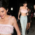 KENDALL Jenner Flashes Abs While Wearing a FLASHY Outfit! image