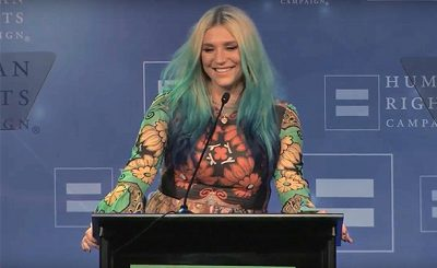 KESHA Performs 'Praying' for Youtube