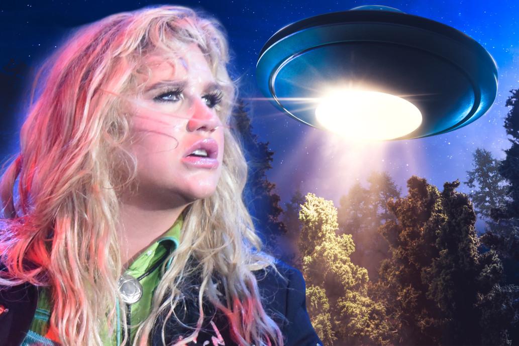Kesha Says She Sees UFOs!