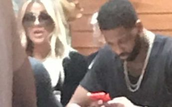 KHLOE KARDASHIAN and Tristan Thompson Seen Together For the First Time Since Tristan's Cheating