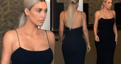 Kim Kardashian Wears a Big Little Black Dress for Serena Williams' Wedding