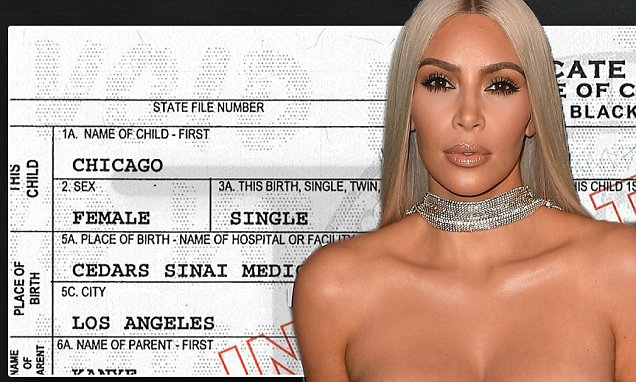 Kim Kardashian Reveals CHICAGO West's Birth Certificate!