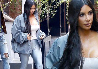 Kim Kardashian Silver Look After MET GALA!