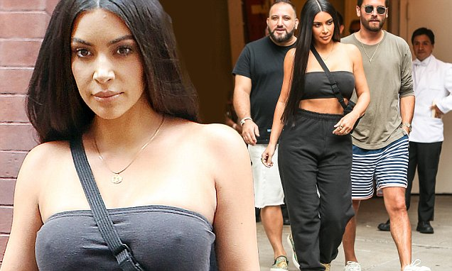 Kim Kardashian Meets Scott Disick for LUNCH! image