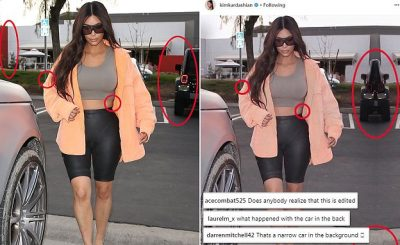 KIM KARDASHIAN PHOTOSHOP SCAM: Kim Makes Herself Thinner on Instagram