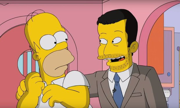 Jimmy Kimmel Tours Springfield on THE SIMPSPONS image