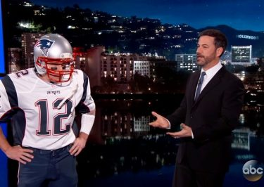 Matt Damon Takes on Jimmy Kimmel While Dressed as Tom Brady!