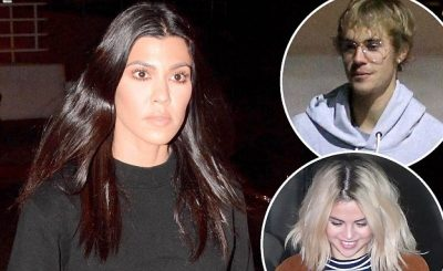 Kourtney Kardashian Wears ALL BLACK to Church W/ Justin Bieber & Khloe