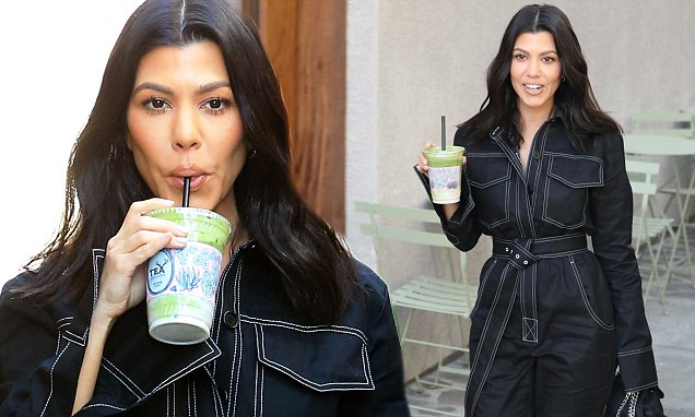 Kourtney Kardashian Sips GREEN Drink While Shopping for New Niece STORMI image