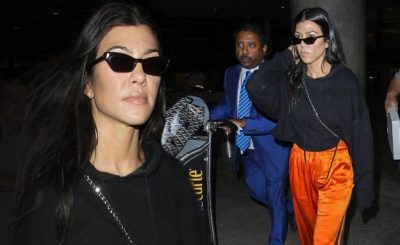 Kourtney Kardashian Wears ORANGE Pants After Visiting St. Tropez