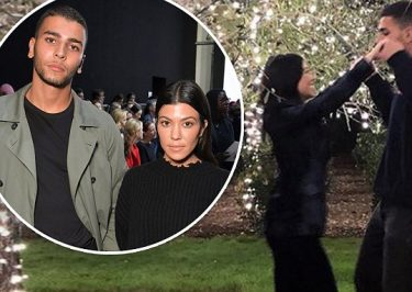 Kourtney Kardashian Embraces Boyfriend Younes Bendjima Under the MOON!