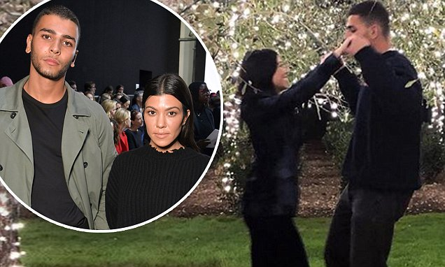 Kourtney Kardashian Embraces Boyfriend Younes Bendjima Under the MOON! image