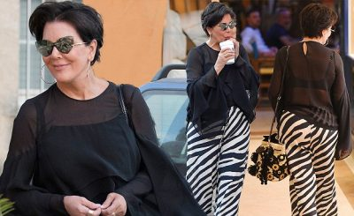 Kris Jenner is a ZEBRA-PRINT Woman in St Tropez!