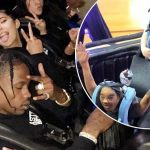 Kylie Jenner Buys a Fan a $3,000 LOUIS VUITTON Backpack! image