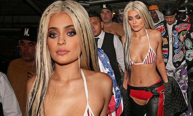 Kylie Jenner is a DIRRTY Christina Aguilera For Halloween! image