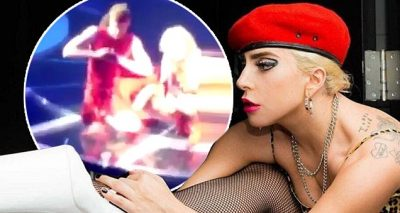 Lady Gaga Helps Out Bleeding Fan During Concert