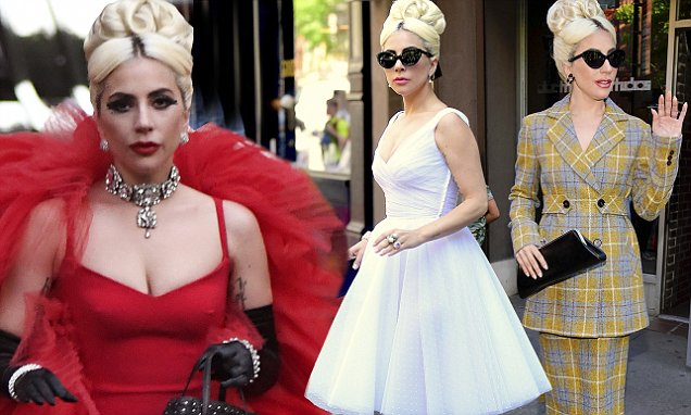 Lady Gaga Chic-NYC Look While Strolling Through the WEEKEND! image