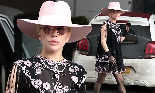 EXC: Lady Gaga struts her stuff in London.
