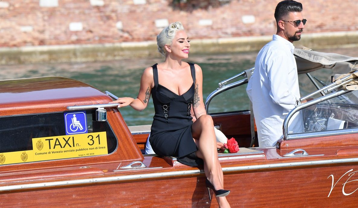 Lady Gaga Travels to Venice ON A BOAT! Almost Drowns... image