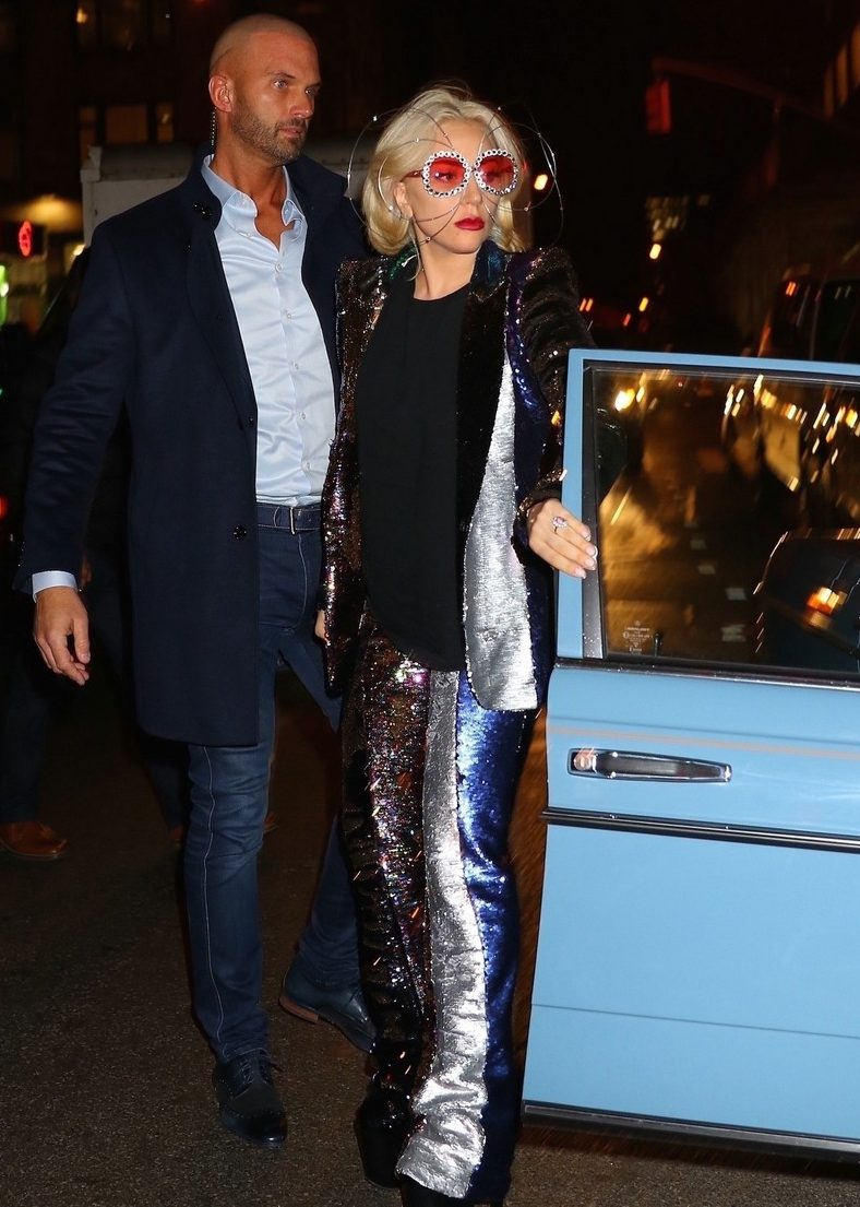 Lady Gaga Wears Metallic Spectacles On Date With Soon-to-Be Husband image