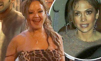 Jennifer Lopez Runs Into Casper Smart With Scientologist TROUBLEMAKER Leah Remini!