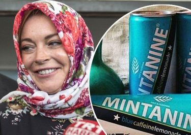 Lindsay Lohan Delivers Energy Drinks to Syrian Refugees