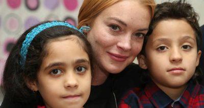 Lindsay Lohan Visits Syrian Refugees