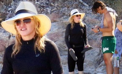 MADONNA Attends Funeral @ The Beach!