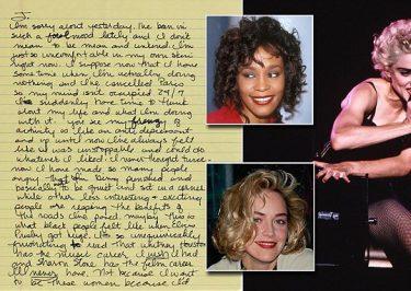MADONNA Calls Sharon Stone & Whitney Houston 'Mediocre'…