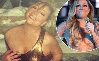 WASHING AWAY: Mariah Carey Takes Casual Dip in Aspen