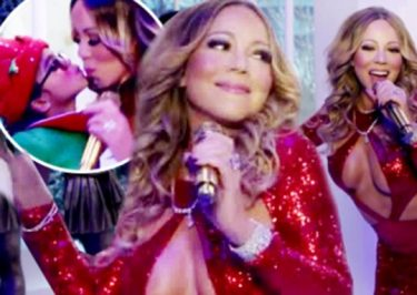 Mariah Carey Skimpy 'HERE COMES SANTA CLAUS' Music Video With Bryan Tanaka and Twins!