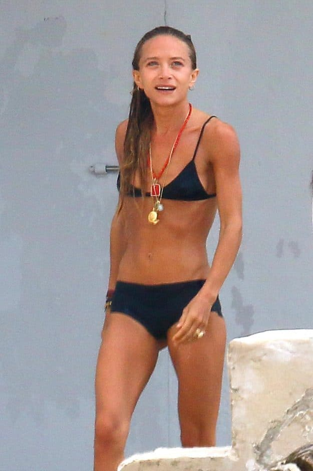 Mary-Kate Olsen Bares Skinny Bod in Bikini While on Vacation With Husband Olivier Sarkozy and Sister Ashley image