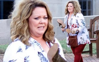 Melissa McCarthy is THE LIFE OF THE PARTY in Atlanta…Ends Up Losing Her Shoes!