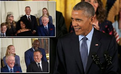 FREEDOM: Michael Jordan WEEPS As Barack Obama Honors Him & Other Stars With Medal of Freedom