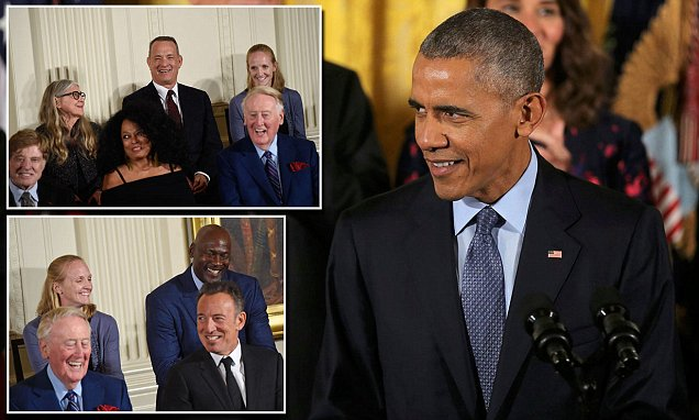 FREEDOM: Michael Jordan WEEPS As Barack Obama Honors Him & Other Stars With Medal of Freedom image