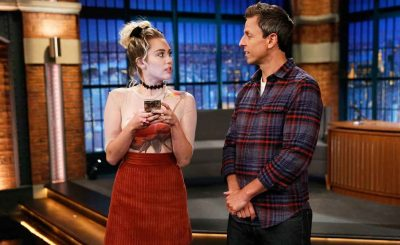"Miley Cyrus and Seth Meyers Have a ""Forced Friendship"""