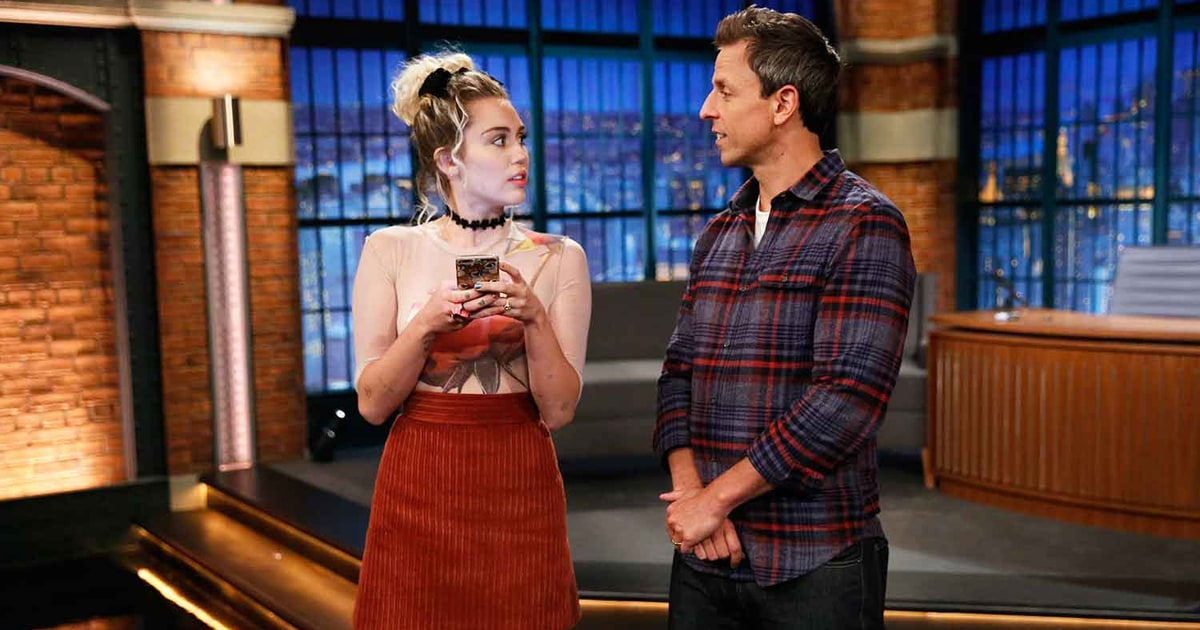 """Miley Cyrus and Seth Meyers Have a """"Forced Friendship"""""""