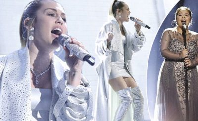Miley Cyrus Performs 'Wrecking Ball' For THE VOICE Finale