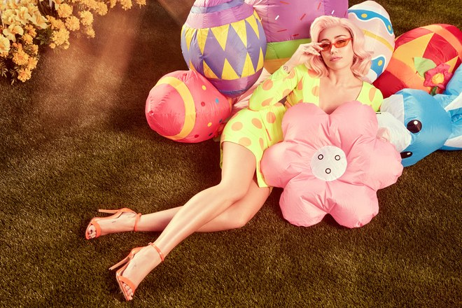 Miley Cyrus Spanked By the EASTER BUNNY For Vogue image
