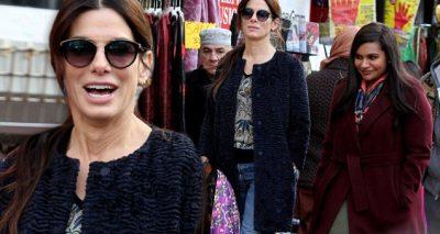 Mindy Kaling and Sandra Bullock Film Secret 'OCEAN'S EIGHT' in Queens!
