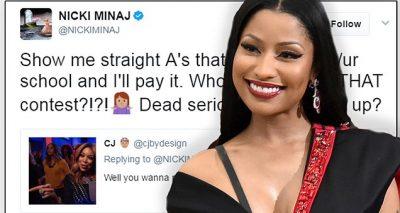 Nicki Minaj Pays Fans' College TUITION!
