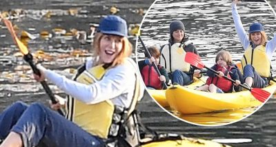 Nicole Kidman Rides a CANOE For 'Big Little Lies' Scene