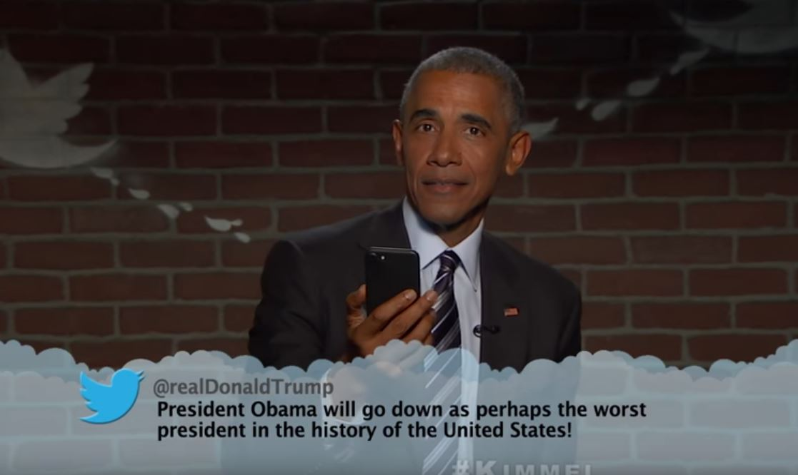Barack Obama Reads MEAN TWEETS image