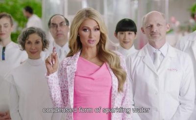 Paris Hilton Launches Condensed Sparkling Water