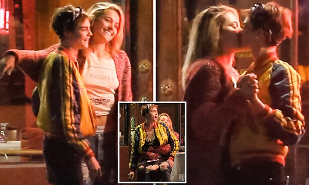 Paris Jackson Kisses Cara Delevingne During Dinner With Macaulay CULKIN and Brenda Song image
