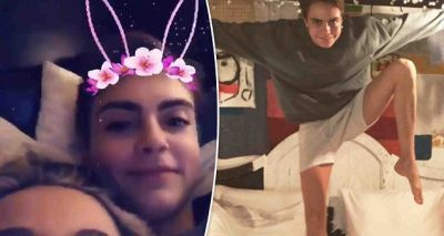 MAKE ME FAT PLS: Paris Jackson Eats Strawberries in Bed With Cara Delevingne