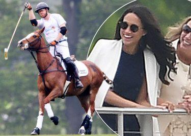 Prince Harry and Meghan Markle: POLO MATCH PDA!