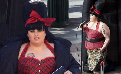 REBEL Wilson Dresses Up as Amy Winehouse for 'Pitch Perfect 3' Filming