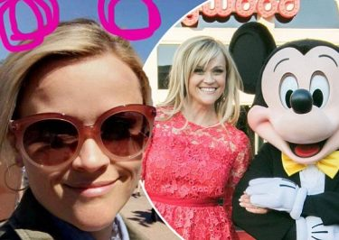 REESE Witherspoon Gets Up Close and Personal With Mickey Mouse!