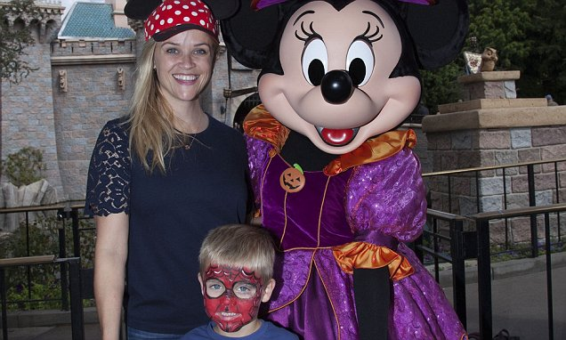 Reese Witherspoon and Son Celebrate Halloween Time at Disneyland